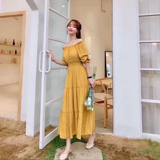 夏季超仙气质收腰连衣裙
