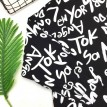 字母涂鸦印花长袖宽松T恤