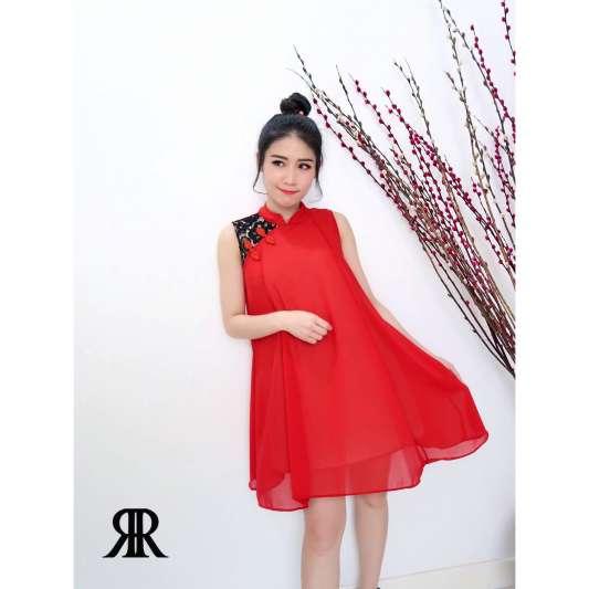 中国风清新宽松连身裙
