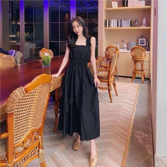 气质荷叶边设计连身裙
