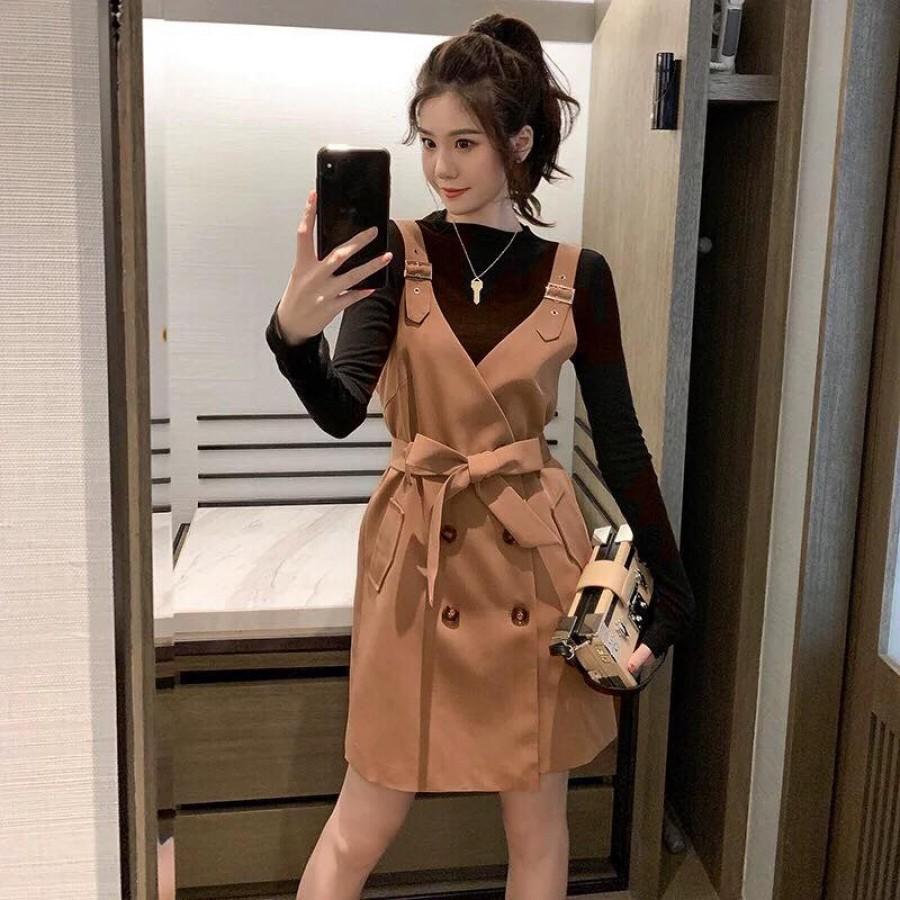 典雅英伦范儿西装连衣裙
