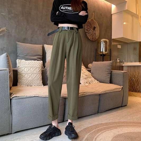 宽松垂感西装长裤