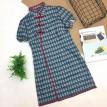 中国风改良版格子旗袍