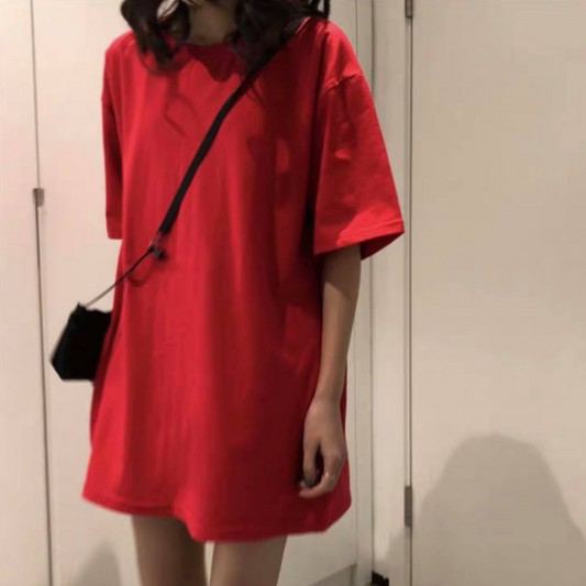 百搭纯色OversizedT恤
