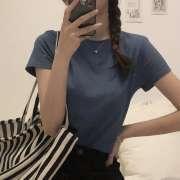 纯色圆领短袖T恤